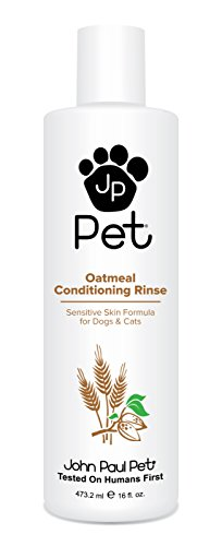John Paul Pet Oatmeal Conditioning Rinse for Dogs and Cats, Soothing Sensitive Skin Formula, Moisturizes and Revitalizes Dry Skin and Fur, ()