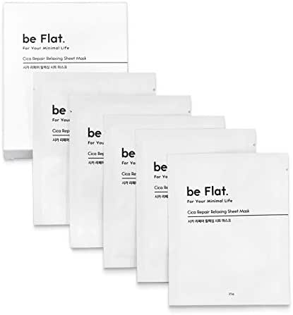 Repair Relaxing Facial Mask Sheet Pack 1Set / 5Pcs Daily Moisturizing and Brightening 1000ppm Cica Full Of Essence To Dry Zone In The Body Get Back Your Skin To Youthful Recover and Calm Down - beFlat