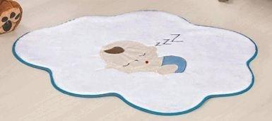 Tapete Bebê Nuvem - Azul