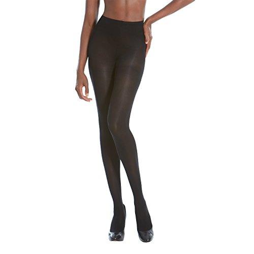 3d Tights (Gold Toe Women's Semi Opaque Control-Top 3D Stretch Perfect Fit Tights (C, Black))
