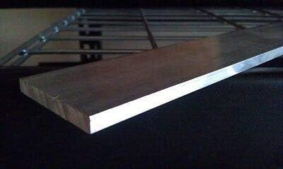 """48/"""" length 1/"""" x 2/'/' Aluminum 6061 Flat Bar"""