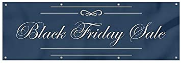 12x4 CGSignLab Black Friday Sale Classic Navy Heavy-Duty Outdoor Vinyl Banner