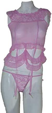 Lingerie For Women Two Pcs, One Size, Pink