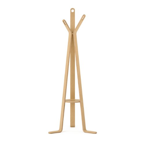 CorLiving LCQ-868-H Aquios Bentwood Coat Rack, Natural Wood Finish Bentwood Coat