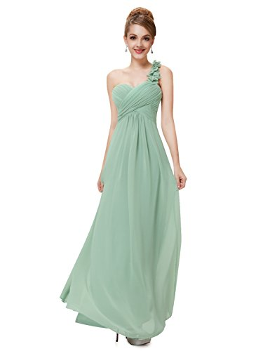 Pretty Flower Shoulder Empire Bridesmaids