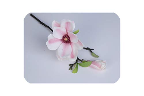 Artificial Flower Short Branch Mini Magnolia Flores Artificial Wedding Silk Interior DIY Wedding Home Christmas Decor Flower,Pink ()