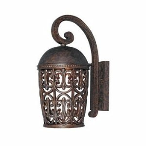 Designers Fountain 97592-BU Amherst-DS Wall Lanterns, Burnt - Outdoor Wall Amherst
