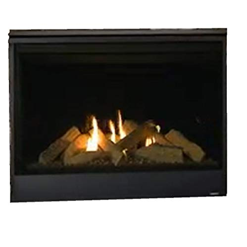 Majestic Quartz QUARTZ36IN Direct Vent Natural Gas Burning Fireplace with Intellifire Ignition (36N)