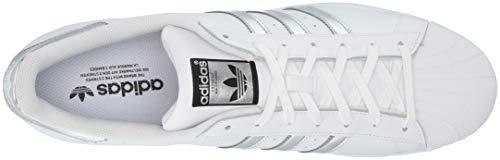 adidas Originals Women's Superstar Shoes Sneaker, White/Silver Metallic/Black, 13.5