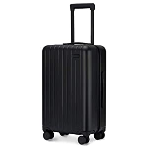 GoPenguin Luggage, Carry On Luggage with Spinner Wheels, Hardshell Suitcase for Travel with Built in TSA Lock Black