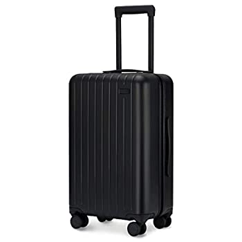 Image of GoPenguin Luggage, Carry On Luggage with Spinner Wheels, Hardshell Suitcase for Travel with Built in TSA Lock Black Luggage