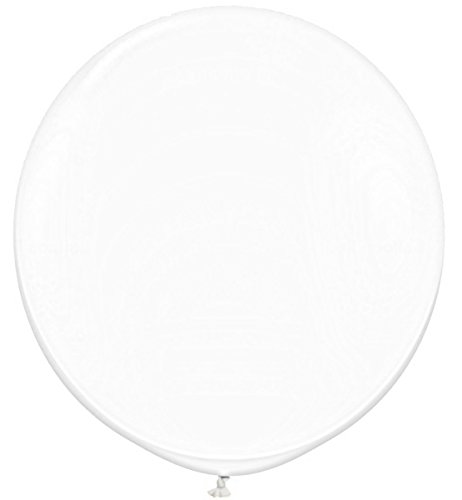 Elecrainbow Giant Balloons 36 Inch Transparent Balloon, Oval Shape, 6 Pack Big White Balloons for Party Supplies and Decorations