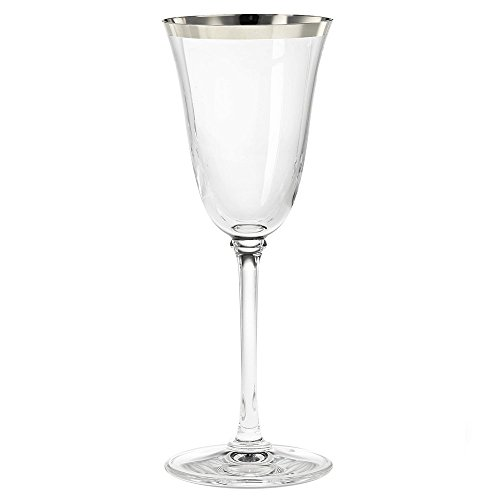 (Wedgwood Classic Banded Platinum Wine, Clear)