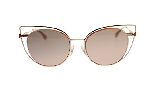 Fendi Women's Sunglasses FF0176 010 Palladium/Grey Gradient Oval Authentic 53mm