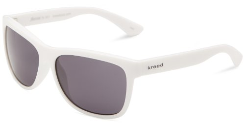 Kreed Men's Dogtown Wrap Sunglasses,White,57 - Kreed Sunglasses