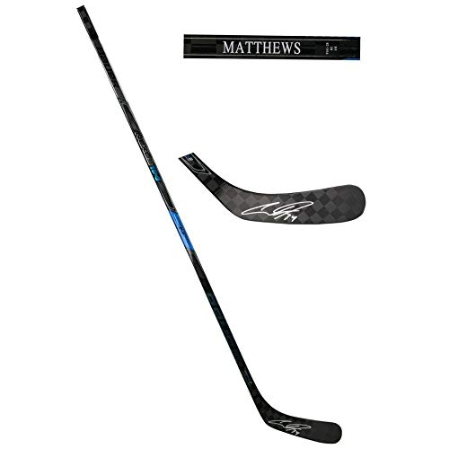 - Auston Matthews Toronto Maple Leafs FAN Autographed Signed Bauer Nexus Game Model Hockey Stick - Certified Signature