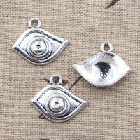 30pcs Charms evil eye 21*17mm Antique Silver Plated Pendants Making DIY Handmade Tibetan Silver Jewelry Nell Retro