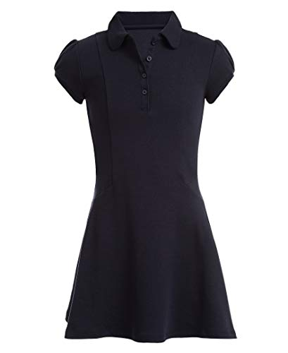 Nautica Girls' School Uniform Short Sleeve Polo Dress