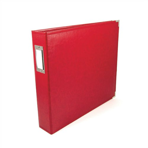 We R Memory Keepers 8x8 inch Classic Leather 3-Ring Photo Album, Red