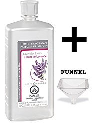 Lampe Berger Fragrance - Lavender Fields Oil - 33.8 Ounce with FREE Funnel (Oil Lavender Lamp)