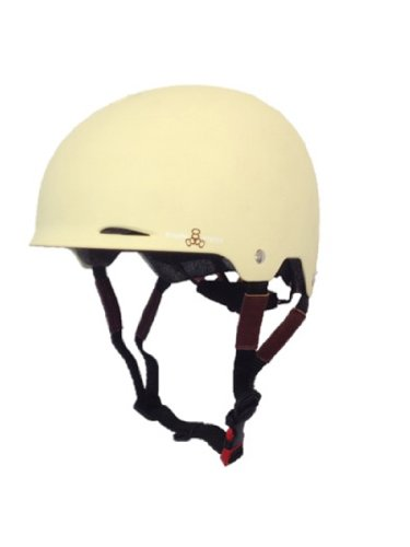 Cream Small Medium Triple Eight Gotham Rubber Helmet