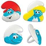 Smurf Cupcake Rings - Set of 12 - Papa Smurf, Smurfette, Smurf