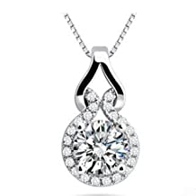 AYT Australian Crystal Necklace with 3 Layer Platinum Plated Allergy Free Trendy Jewelry