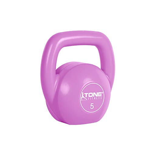 Tone Fitness Vinyl Kettlebell, 5-Pound, Pink by Tone Fitness (Image #2)