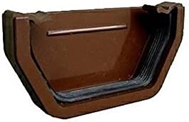 CLAY Clay Brown Black Brown Marshall Tufflex External Stop End for 114mm Squareline gutter system RWSE1 White