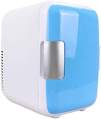 Noblik ミニ冷蔵庫、12V 4リットル ポータブルミニ冷蔵庫クーラーおよびウォーマー AC/電源コード付き、超静音車内冷凍庫 車用、ロードトリップ、寝室、オフィス用 ブルー