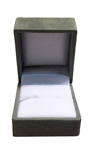 Niche-Finds Gray (Grey) Fancy Ring Box Jewelry Box