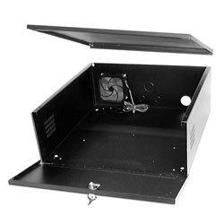 ALT-DQ-21-24-8 DVR lockbox, 21 x 24 x 8in w/ cooling fan, 16 GA steel