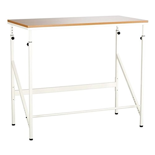Safco Products 1957BH Sit/Stand Bi-Level Desk, Beech/White