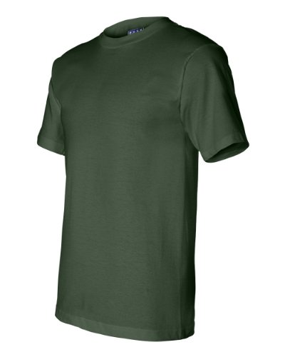 Bayside 2905 Men's Union-Made Short Sleeve Tee 100% Cotton Solid T-Shirt (X-Large, Forest Green) ()
