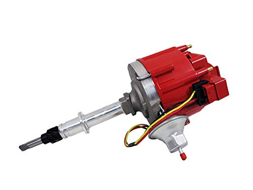 Top Street Performance JM6511R 50K Volt Coil HEI Distributor with Red Cap ()