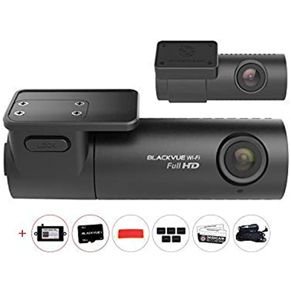 16GB SD Card Warning Sign Included 30FPS Built-in Wi-Fi Full HD 1080p Front and Rear G Sensor HDVD BlackVue DR590W-2CH 16GB Car Black Box//Car DVR Recorder