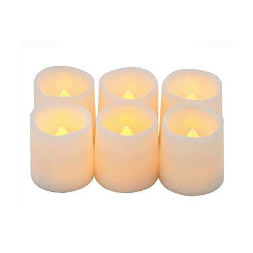 Cooo Battery Operated Flameless LED Tea Light for Seasonal & Festival Celebration, Pack of 12, Electric Fake Candle in Warm White and Wave Open