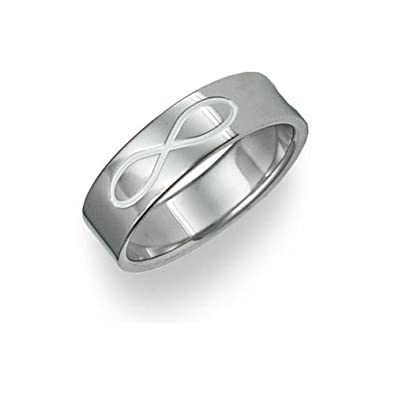 Titanium Infinity Symbol Wedding Band Ring For Mens Amazoncom