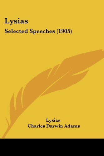 Lysias: Selected Speeches (1905)