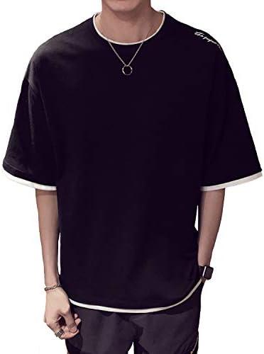 Tシャツ 長袖 半袖 メンズ カジュアル 無地 カットソー ファッション 丸襟 柔らかい 快適 春秋