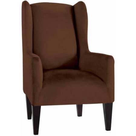 amazon com stretch fit microsuede slipcover wingback chair box