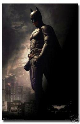 The Dark Knight Movie Batman Standing Poster Print