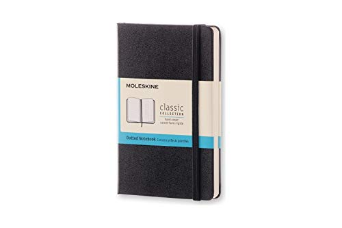 Moleskine Classic Notebook, Hard Cover, Pocket (3.5 x 5.5) Dotted, Black