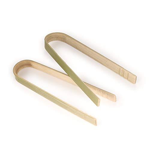BambooMN Brand - 3.9 Mini Bamboo Disposable Tongs - Toast Tongs - 60 pcs