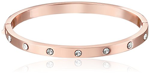 kate spade new york Set In Stone Stone Hinged Clear/Rose Gold Bangle...