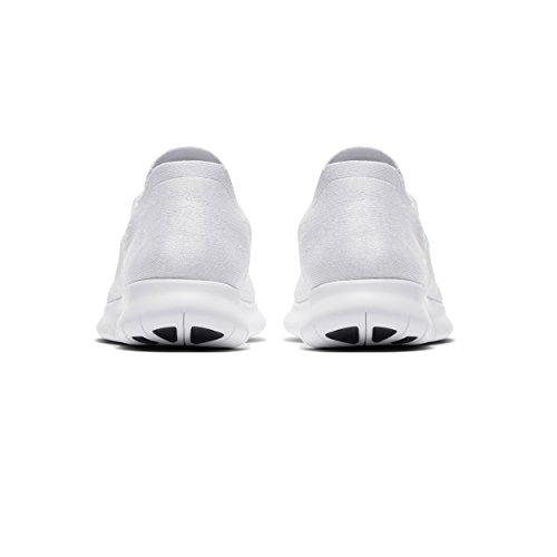 RN Uomo Pure Black 100 Free Trail Bianco Platinum da Running 2017 Scarpe White Flyknit White Nike BFqUq