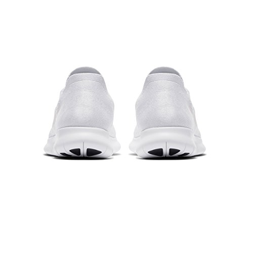 Uomo White Free Black da Scarpe Platinum Running Flyknit Nike 100 White Trail RN Bianco Pure 2017 BnvRRg