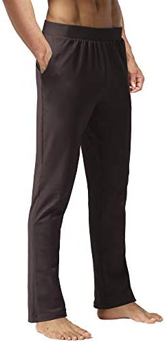 Zeronic Men's Active Yoga Sweatpants Workout Joggers Pants Bootcut Yoga Pants with Pockets