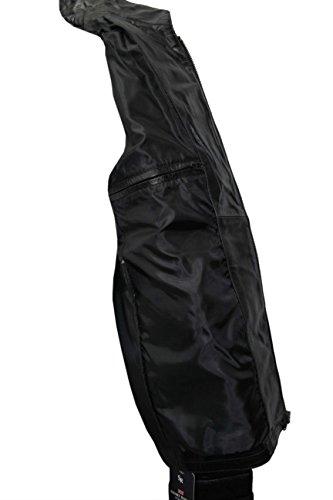 Bataillon Herren schwarz 2212 Military Style Steam Punk-echtes Leder Jacke Mantel.