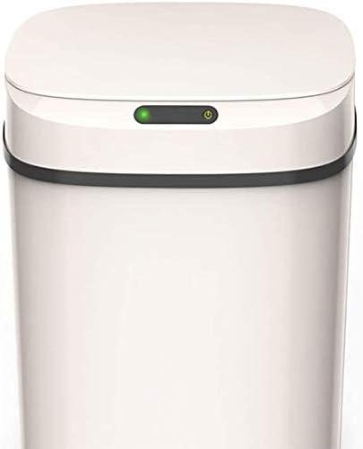 キッチンセンサービンタッチフリー廃棄物ゴミ箱長方形自動プラスチックスクエアセンサービンプラスチックインナーバケット12Lホームオフィススクールキッチンバスルーム用ゴミ容量